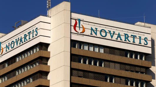 Novartis headquarters building in Basil, Switzerland.