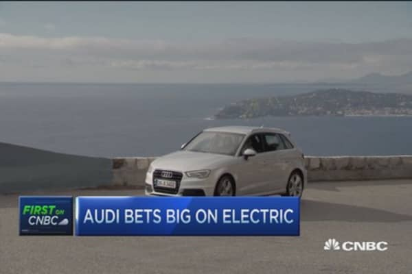 Audi says in 10 years, 25% sales from electric/hybrid