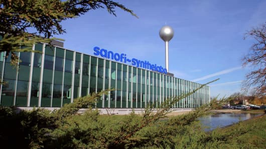 The French pharmaceutical group Sanofi-Synthelabo headquaters in Ambares.