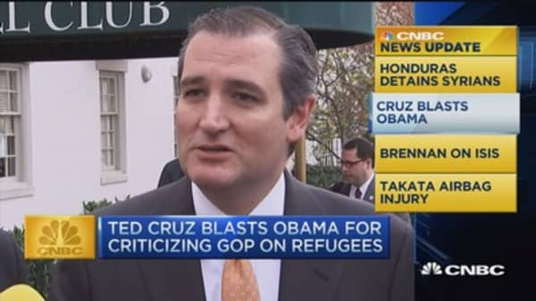 CNBC update: Cruz blasts Pres. Obama on Syria
