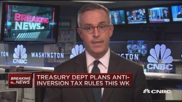 Treasury Dept plans anti-inversion tax rules