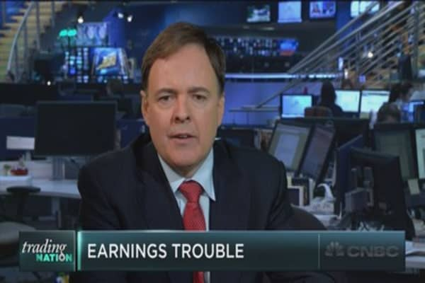 Earnings trouble for the S&P 500
