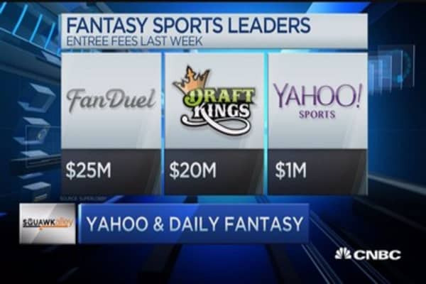 Yahoo ensnared in daily fantasy site crackdown