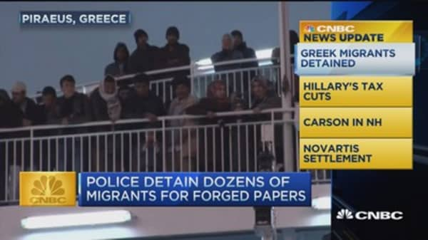 CNBC update: Greek migrants detained
