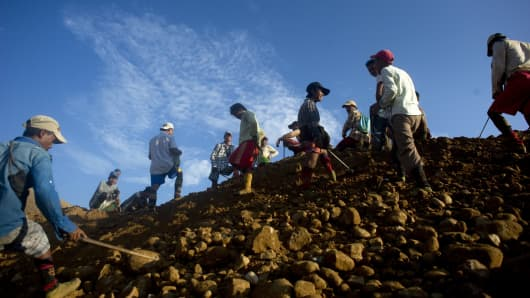 A jade mine in Hpakant, Myanmar's Kachin State.