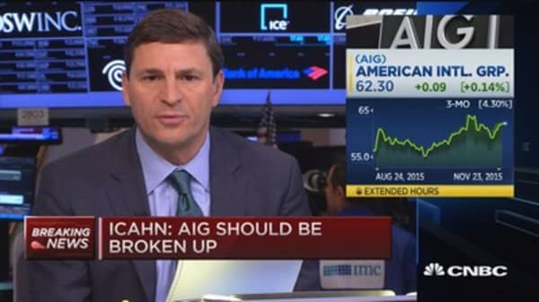 AIG should split into 3 companies: Carl Icahn
