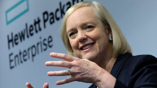 Hewlett-Packard Enterprise Chief Executive Officer (CEO) Meg Whitman.