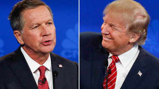 John Kasich and Donald Trump.