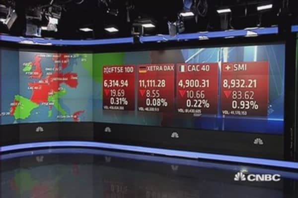 Europe closes lower as oil price seesaws