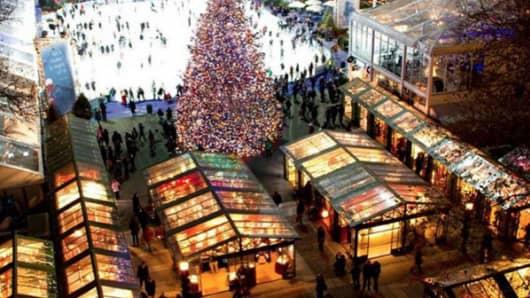 Bryant Park Christmas Village.