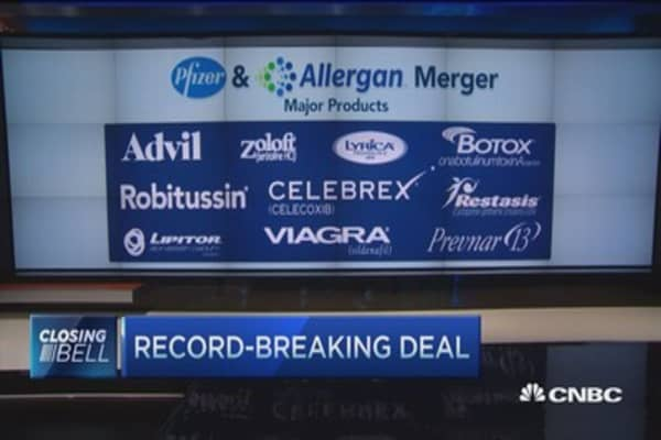 Pfizer-Allergan by the numbers