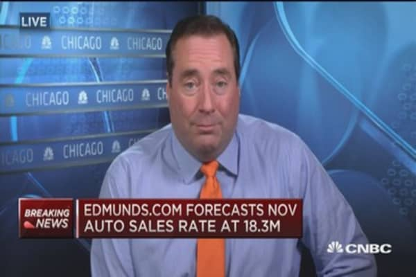 Edmunds.com forecasts Nov. auto sales rate at 18.3M