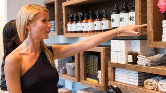Gwyneth Paltrow attends a Goop pop-up store in 2014.