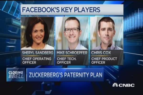 Zuckerberg's paid paternity plan