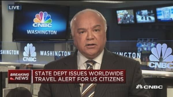 State Dept. issues travel alert