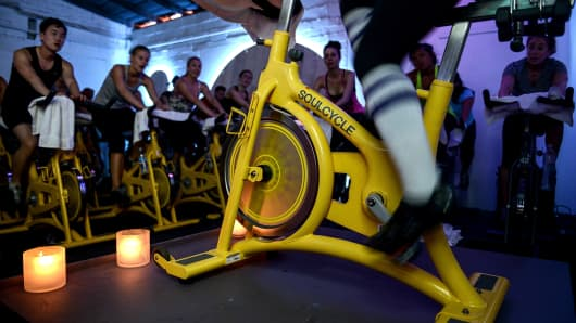 Soul Cycle class.