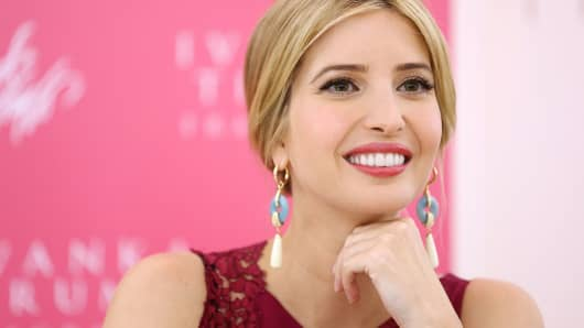 Socialite and entrepreneur Ivanka Trump.