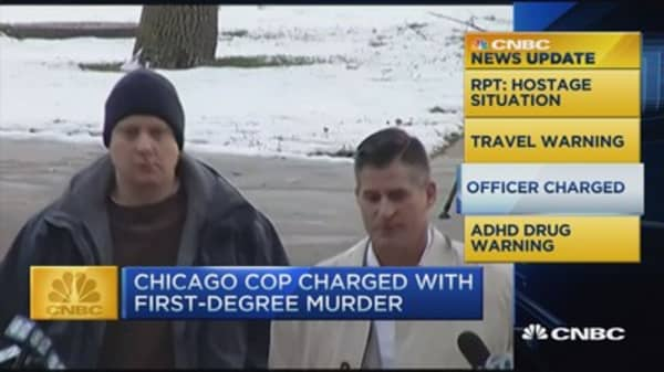 CNBC update: Chicago cop charged with first degree murder