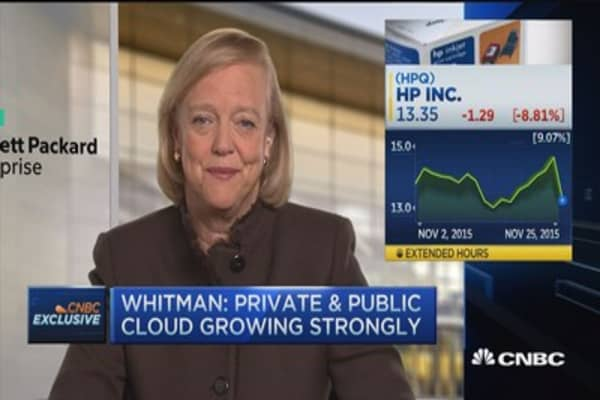HPE CEO:  We are the leader in private cloud