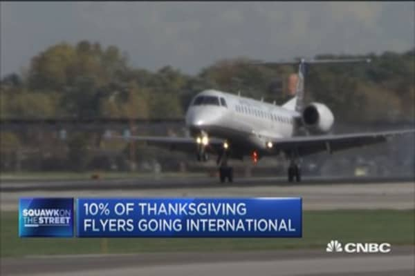 Thanksgiving Day lightest travel day