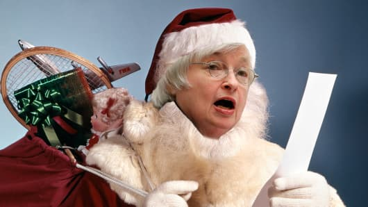 Janet Yellen as Santa