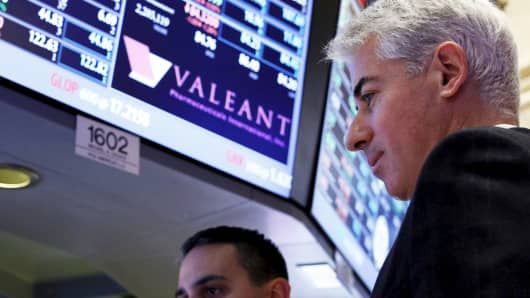 Bill Ackman at the New York Stock Exchange.