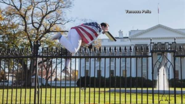 White House on lockdown after man jumps fence