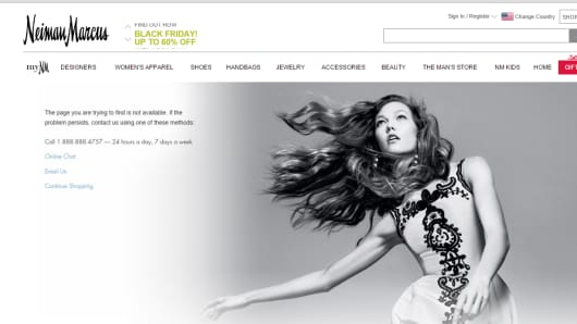 Neiman Marcus Black Friday webpage
