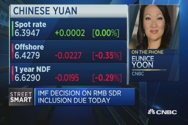 'China sees yuan SDR inclusion as badge of honor'