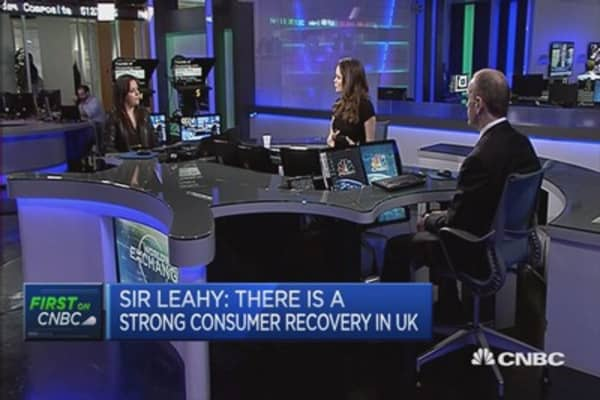 Strong consumer recovery in UK: Sir Leahy