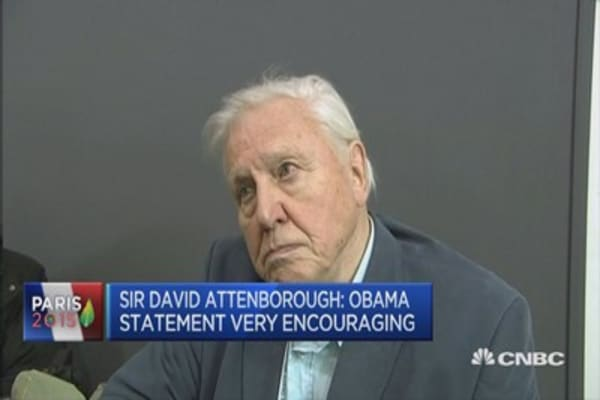 Obama speech 'enormously heartening': David Attenborough