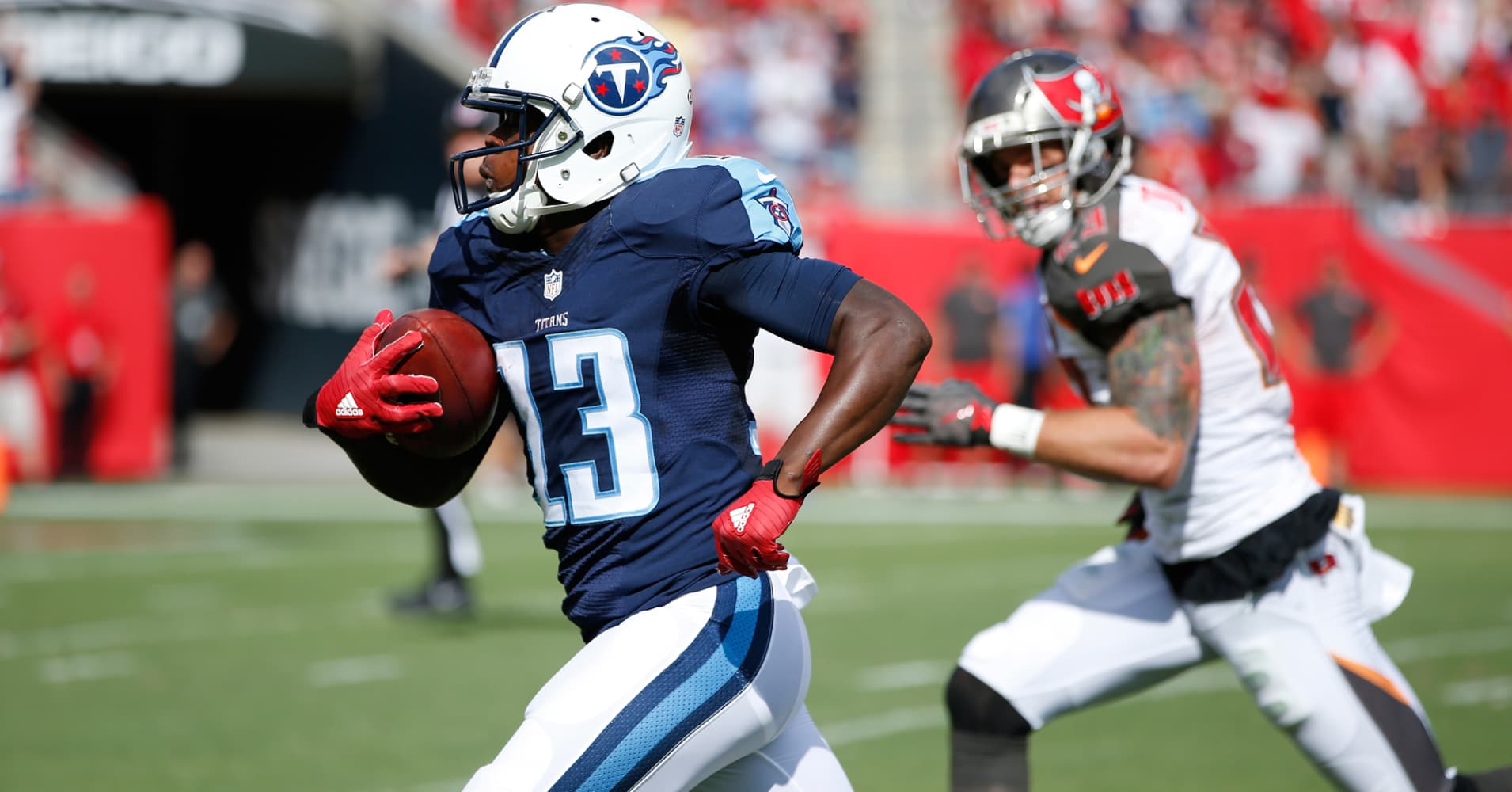 Kendall Wright of the Tennessee Titans.