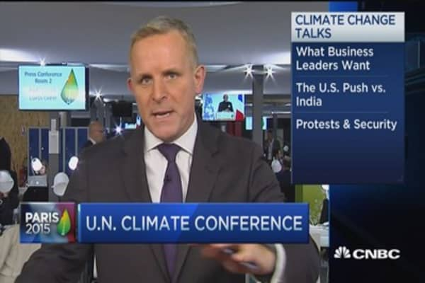 Business leaders shine at Paris climate talks