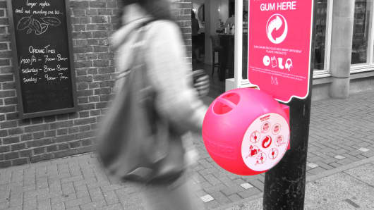 Recycle used chewing gum to keep streets clean
