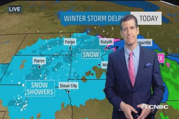 Ice and snow slam Midwest