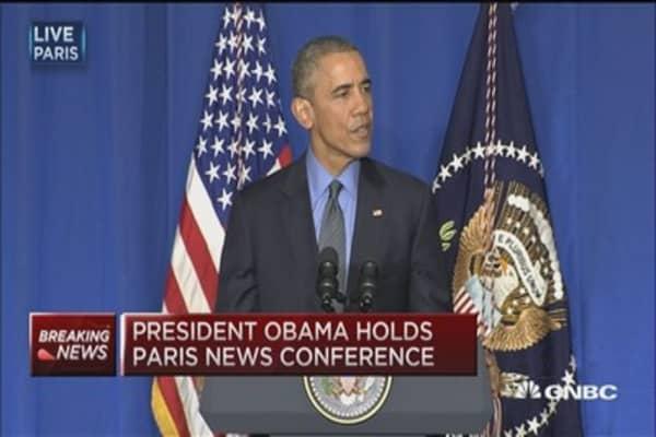 Pres. Obama:  Climate change is economic imperative