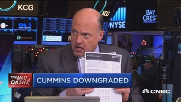 Cramer's Mad Dash: CMI downgraded