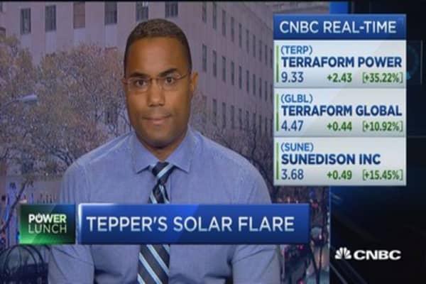 Tepper's solar flare