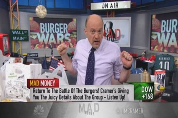 Cramer's burger wars—stocks giving you indigestion