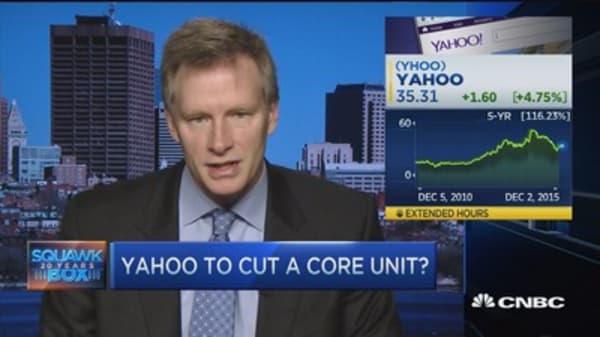 Is Yahoo selling Internet unit?