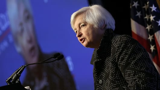 Federal Reserve Board Chairwoman Janet Yellen delivers remarks December 2, 2015 in Washington, DC.