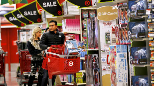 Shoppers at a Target store in Chicago.