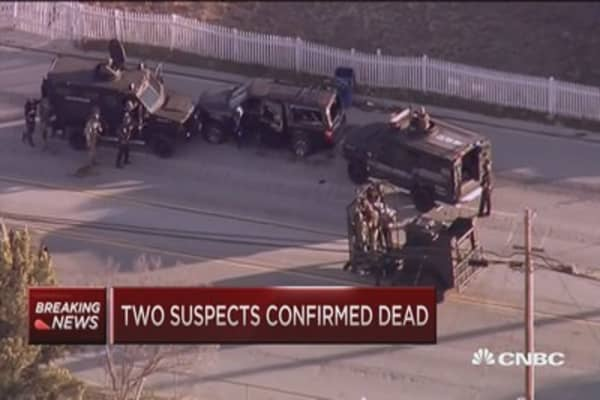 Two suspect confirmed dead: Police