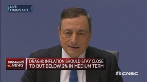 Asset purchase programme is flexible: Draghi