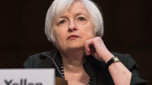 Federal Reserve Chair Janet Yellen testifies before a Joint Economic Committee hearing in Washington, December 3, 2015.