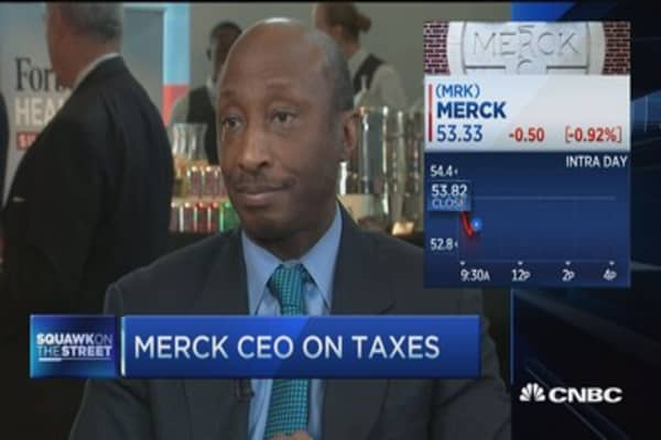 Merck CEO: Hope gov't views Pfizer-Allergan as watershed