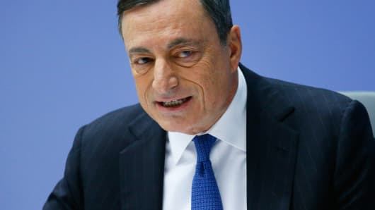 European Central Bank president Mario Draghi addresses a news conference at the ECB headquarters in Frankfurt,  December 3, 2015.