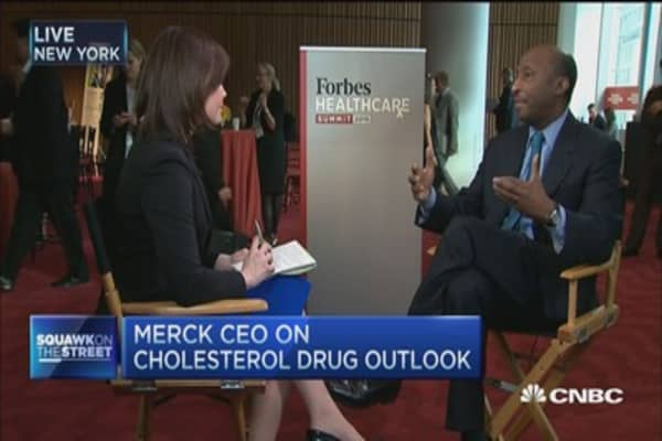 Merck CEO: Continuing study on cholesterol drug
