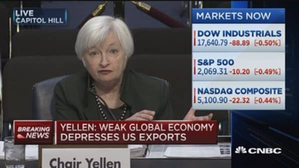 Weak global growth: Yellen