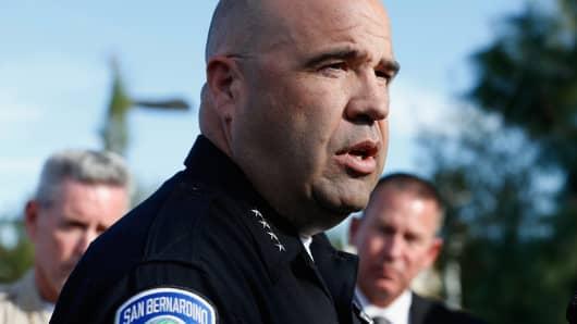 San Bernardino Police Chief Jarrod Burguan
